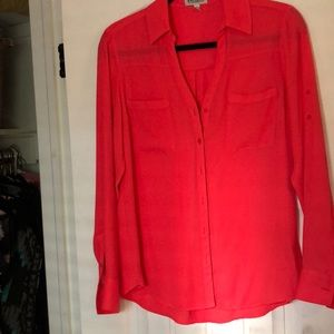 Express Women's size S - sheer long sleeve blouse